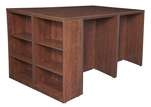 Regency Legacy Stand Up 2 Desk/Storage Cabinet/Lateral File Quad with Bookcase End, (Regency Cherry Cabinet)