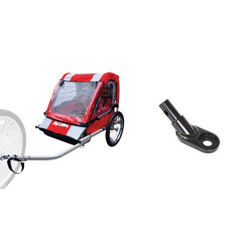 Allen Sports 2-Child Steel Bicycle Trailer (Red) and Aosom Type 'B' Bicycle Trailer Hitch Coupler Bundle
