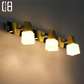Schwenkarm Lampe Einstellbare Led Spiegelleuchten Einfache Ideen Badezimmer  Massivholz Schminkspiegel Lampe Wandleuchte Wand Wasserdichte Licht,