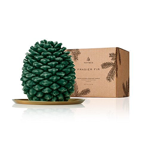 Thymes Frasier Fir - Northwoods Molded Pinecone Candle Petite
