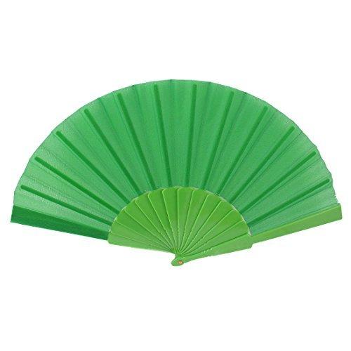 eDealMax Plastic Rib Style Chinois Robe de soirée de Cadeau pliant Éventail vert