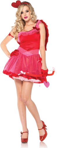Leg Avenue Women's Kiss Me Cupid Dress, Red, X-Small]()