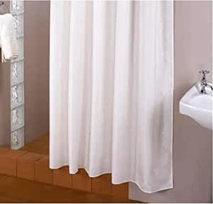 Extra largo textil para cortina de baño blanco 240 215 alta gama longitud tamaño especial cortina de baño blanco extra largo