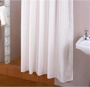 Dimension Exceptionelle Textile Rideau De Douche Blanche 240 Large