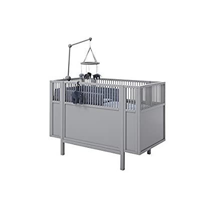 Lifetime Cuna Cuna Madera Gris Convertible para cama para niños madera Laqueado 60 x 120cm #