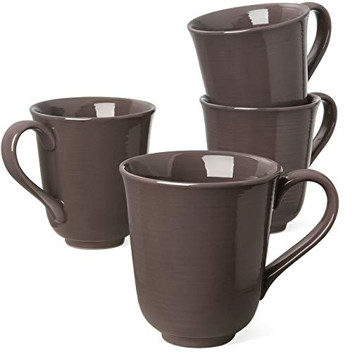 Le Tauci 4 Piece Latte Cups Coffee Cup, 10 Ounce Brown (The Temperature Of A Certain Cup Of Coffee)