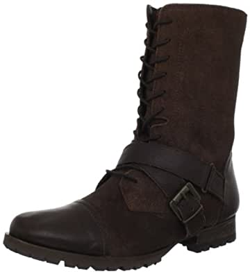 Naughty Monkey Women's Stomper Motorcycle Boot,Chocolate,6.5 M US