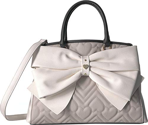 - Betsey Johnson Women's Big Bow Satchel Grey Multi One Size