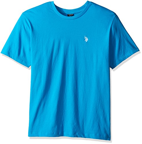 U.S. Polo Assn. Men's Crew Neck Small Pony T-Shirt, Flipflop Blue, ()