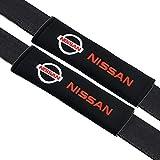 VILLSION 2Pack Car Seat Belt Pads for Nissan Soft Cotton Car Safety Belt Cover Neck Shoulder Cushion Pads