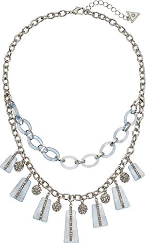 GUESS Women's Statement Necklace with Stones, Blue, One Size ()