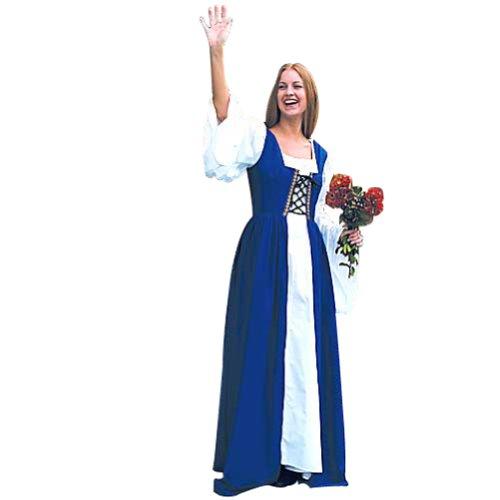 Renaissance Costume - Fair Maiden's Dress (BLUE) L/XL (Fair Maiden Renaissance Costume)
