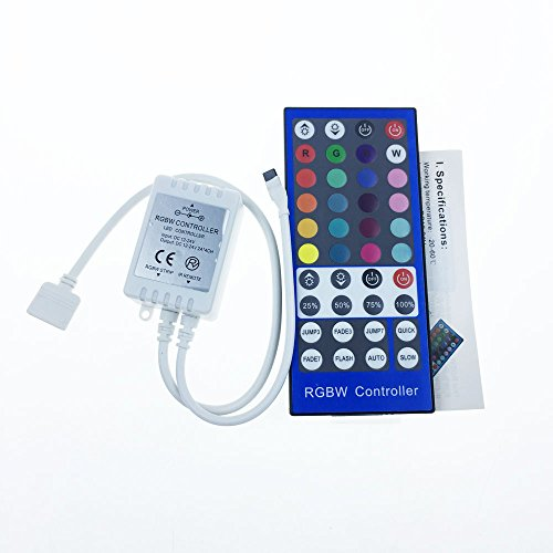 Alarmpore (TM) 40 Key Infrared IR Remote RGBW Controller For 3528 5050 RGBW RGBWW LED Strip Light, DC12V-24V