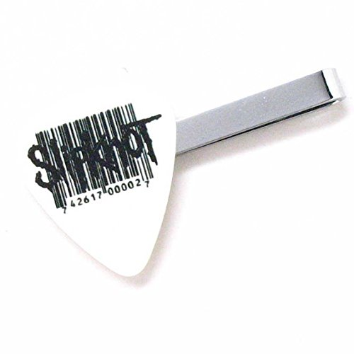 Slipknot Tie Bar Clip Guitar Pick Slip Knot Heavy Metal White Steel Music Rock Musician Teacher Band Suit Accessories Concert]()