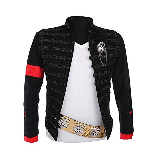 MJ Michael Jackson Jacket Men Military Outfit Costumes