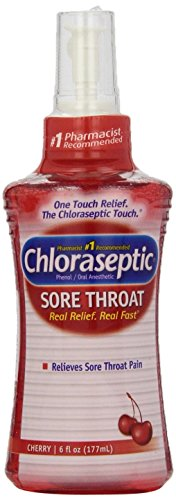Chloraseptic Sore Throat Spray, Cherry, 6 Ounce (177 ml) (Relief Sore Throat Spray)