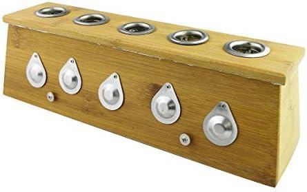 Winterworm® - Caja de sanación de bambú para Moxa Moxibustion Medicina Terapia, Five Hole: Amazon.es: Hogar