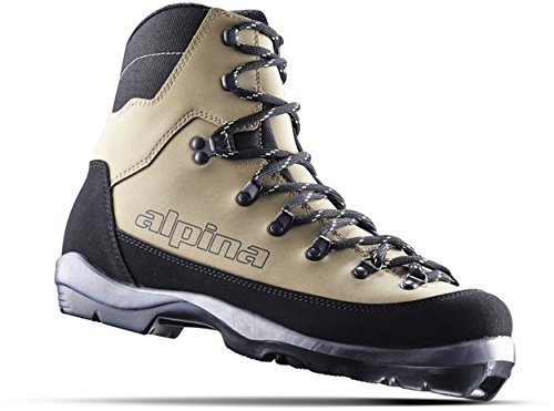 (Alpina Sports Montana Backcountry Cross Country Nordic Ski Boots, Euro 36, Brown/Black)
