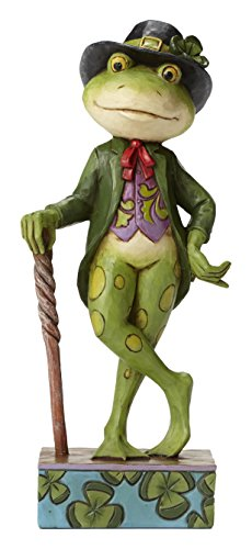 Jim Shore Heartwood Creek Irish Frog Stone Resin Figurine, 5.5