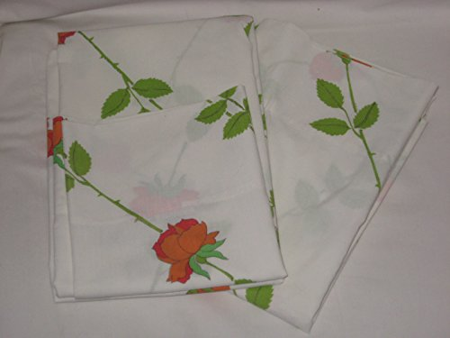 Set of 2 - Vintage Christian Dior Wamsutta Mills Roses King Pillowcases - Dior Usa