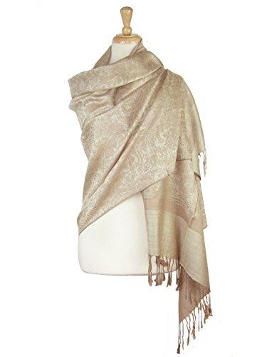 Paskmlna Paisley Jacquard Pashmina Shawl Wrap Scarf Stole (Taupe-beige018129) by Paskmlna®