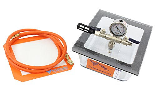 2.75QT Pyrex Flat Vacuum Chamber with 3 CFM Single Stage Pump Kit (Bho Vac With Pump compare prices)