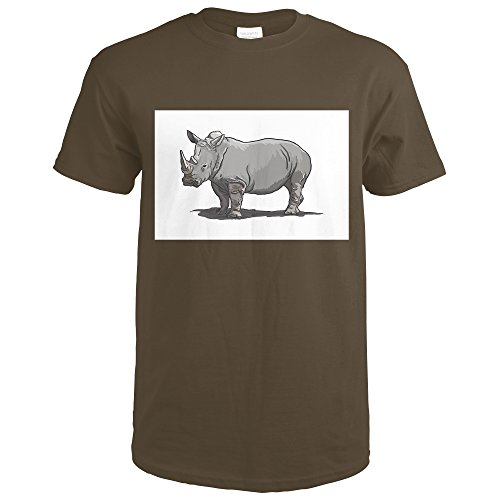 White Rhino - Icon (Dark Chocolate T-Shirt (Dark Brown Rhino)