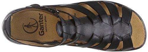 Ganter 9-203301-01000, Spartiates Femme Noir (Schwarz 0100)