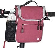 CamGo Bike Basket Bicycle Handlebar Bag Front Frame Top Tube Storage Bag Mini Shoulder Handbag with Rain Cover