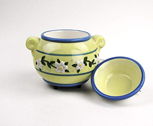 Ceramic Electric Fragrance Candle Wax Melter Warmer - Posies Design ()