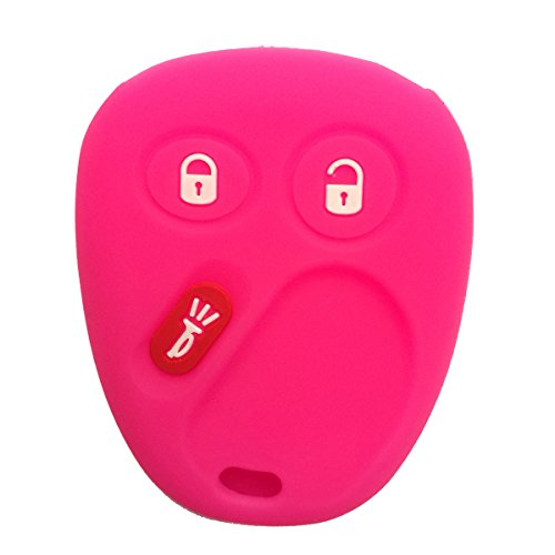 (Coolbestda Rubber 3 Buttons Smart Key Fob Cover Case Shell Keyless Jacket Wallet Holder for LHJO11 Chevrolet Chevy Sivlerado 1500 2500 Equinox Tahoe Suburban GMC Sierra Yukon Cadillac Escalade)