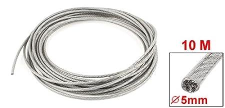 5 mm Dia Stahl Klar PVC-beschichtete, flexible Draht Seil Kabel 10 ...