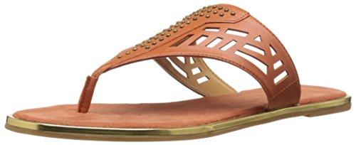 Nine West Women's Kellcie Synthetic Dress Sandal Orange NAi2l