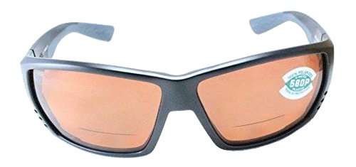 Costa Del Mar Tuna Alley C-Mate 1.50 Sunglasses, Matte Black, Copper 580P - Alley Tuna