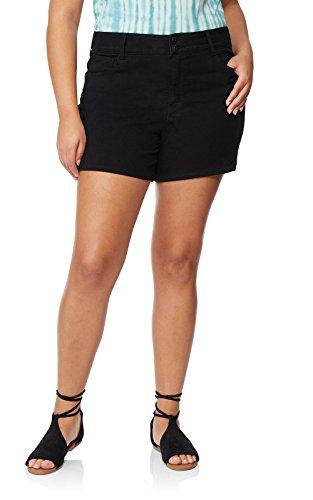 WallFlower Womens Juniors Plus Size InstaSoft Ultra Fit Denim Shorts