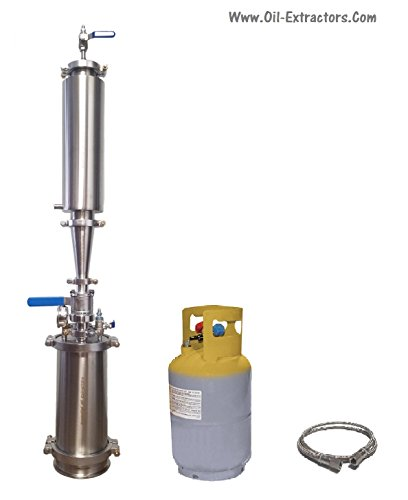 1LB Capacity Closed Loop Extractor with Solvent Tank