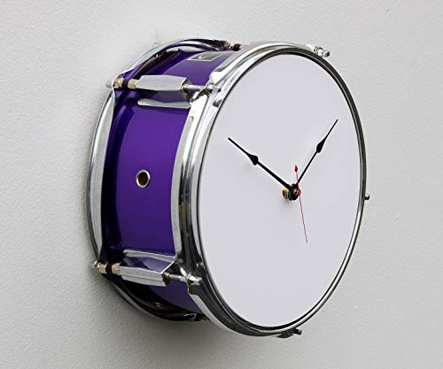Recycled Drum Clock, tom tom clock, percussion inspired clock, steampunk clock, repurposed drum clock, percussion clock, musical inspired clock -