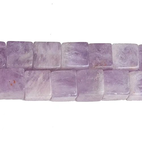 Natural Purple Jade Necklace - Natural Purple Jade Gemstone and Crystal 8mm Cube Square Spacer Loose Beads for DIY Necklace Bracelet Earrings Jewelry Making Supplies Sold by One Strand Apx 46 Pcs