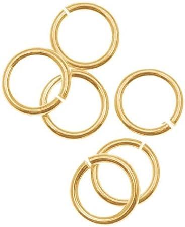 22K Gold Beadaholique JR//036X6G 100-Piece Open Jump Rings 6mm
