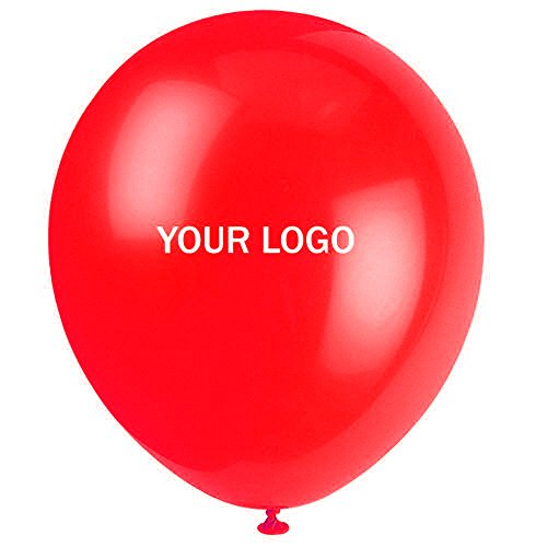 Custom Balloons Photo Print Party Balloons 200 Pack Birthday Wedding Shower Balloons (Red) -