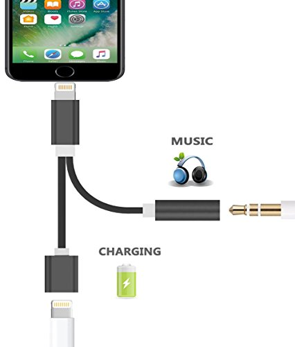 For IOS 10.3. iphone 7 7 Plus 2 in 1 Adapter Converter 3.5MM