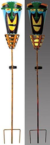 Sunset Vista Designs MF105 Happy Tiki Stake with Solar Po...