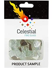 Celestial Fire Glass - Tempered Fire Glass in 10 Pound Jar with Carrying Handle - Designed for Gas Fire Pits and Fireplaces