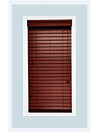 2 Faux Wood Window Blinds Customize Width Length And Color
