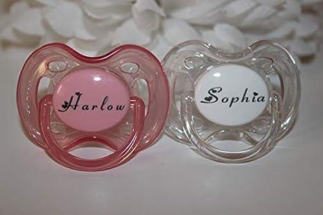 Regalos personalizados - sin BPA de Philips Avent chupetes (0 - 6 ...