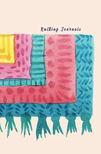 Knitting Journals: 2:3 Ratio Design Blank Knitter's Journal Graph Paper Notebook on Your Design Knitting Charts for Creative New Patterns Composition Notebook Colorful Scarf Theme