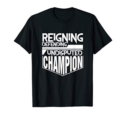 - Reigning Defending Champion T Shirt | Wrestling Gift Men