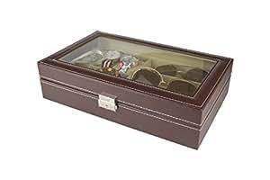 Paide Caja para Relojes - Estuche para Relojes con 9 Compartimentos - Organizador de Relojes y