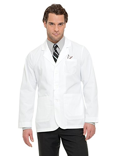 Landau 3224 Men's Consultation Coat White Twill - Consultation Coat Pocket