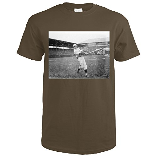 5325 Chocolate (Joe Wood, Boston Red Sox, Baseball Photo #3 (Dark Chocolate T-Shirt Large))
